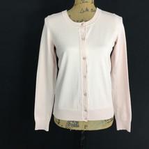 NEW Talbots Cardigan Sweater Blush Pink Stretch Long Sl Knit Top Work Layer NWT - $39.90