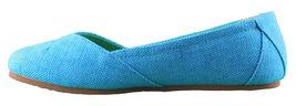 Etnies Femmes Circé Éco W Bleu Turquoise Plats Mary Jane Toile Chaussures Nib image 3