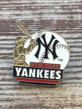 New York YANKEES 2003 Peter David Batter Swinging Baseball NY Logo Pin - $9.95