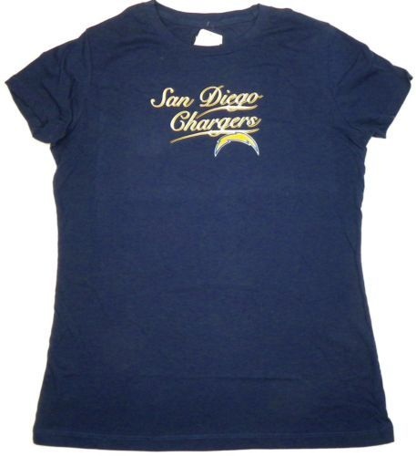 Junior Women's San Diego Chargers Shirt NFL Football Tee Script Graphic T-Shirt