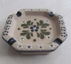 Handmade & Handpainted Ceramic Collectible Pottery Square ASHTRAY MEXICO - $18.99