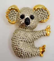 Vintage Koala Bear Pin Broach Gold & Silver Tone Costume Fashion Jewelry... - $13.99
