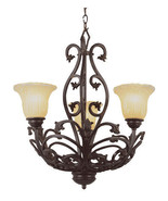 Rustic Wrought Iron Chandelier Trans Globe Lighting Entry Foyer Hall Light - $279.61