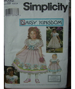"Sewing Pattern 9092 size 5-8 + Doll Pattern 18"" Border Print & Collar UNCUT - $5.99"