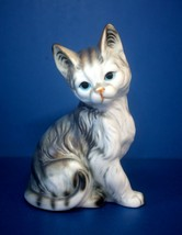 """Vintage 4.5"""" ENESCO Ceramic CAT Figurine - $26.45"""