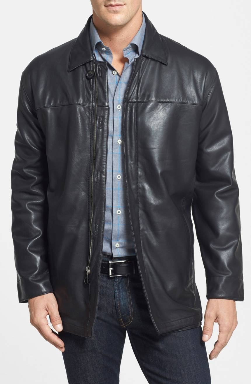 Classic Style Men's Genuine Soft Lambskin Leather Jacket Slim fit Biker jacket