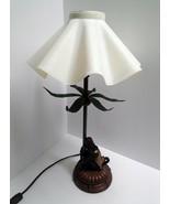 "Vintage Bellhop Monkey Palm Tree Table Desk Lamp Light Resin Shade 17"" 2... - $117.81"