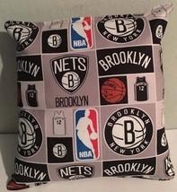 Nets, Pillow Brooklyn, New York, Pillow NBA, Handmade in USA Pillow, Bas... - $9.99