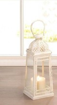 Lot of 8 Large Distressed White Moroccan Inspiration Candle Lantern Cent... - $193.95