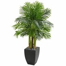 Luxury Multicolor  Kentia Palm Artificial Tree in Black Planter - 5 Ft. - $238.99