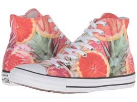 Converse Bright Colorful Tropical Citrus Grapefruit High Top Shoes Unisex NEW - $55.24