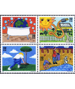 1995 32c Earth Day/Kids Care, Block of 4 Scott 2951-54 Mint F/VF NH - $2.38