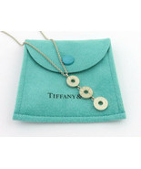 Authentic TIFFANY & CO Sterling Silver 1837 Triple Drop Circle Pendant N... - $119.99