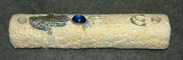 Judaica Mock Stone Mezuzah Case Hamsa Bird Blue Gem Decoration 12 cm image 5