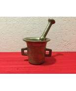 Heavy Brass MORTAR and PESTLE Apothecary - Herb Spice Grinder ANTIQUE - $150.00