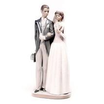 "Lladro #5274 ""Wedding Day"" Black Bride and Groom Porcelain Figurine Reti... - $336.59"