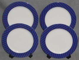 Set (4) Block Yamaka SKYLIGHT PATTERN Salad Plates JACK PRINCE - $15.83