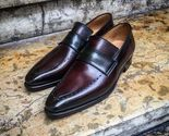 Handmade maroon leather shoes  men moccasin slip on shoes  dress shoes for men thumb155 crop