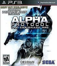 Alpha Protocol (Sony PlayStation 3, 2010)M - $5.91