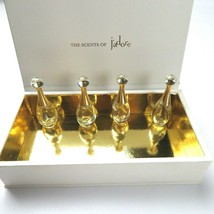 THE SCENTS OF J'ADORE DIOR Box and 4 EMPTY Miniature Bottles - $17.50