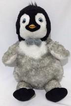 Build A Bear Workshop Happy Feet 2 Penguin 18 IN Erik Blue Bow 10093990 2011 - $6.88