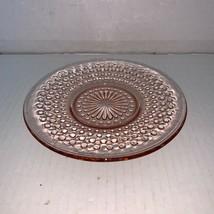 """Vintage Anchor Hocking Pink Depression Glass Hobnail Saucer 6 1/4"""" - $5.00"""