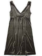 Women's Green Velour V Neck Dress Old Navy M Size Medium  - $12.99