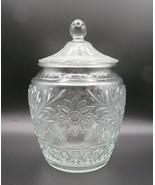 Cookie Jar by Anchor Hocking, Sandwich Glass, circa 1940's-60's, Biscuit... - $35.00