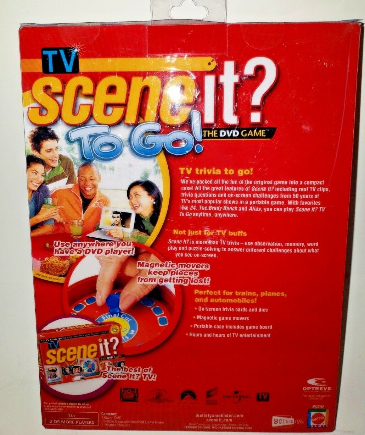 Scene It? To Go. The DVD Game. 2007 Edition..T.V. Trivia To Go..Free Shipping!!! image 2