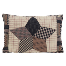 2-pc Bingham Star Standard Sham Set - Hand-quilted Country Charm - VHC Brands