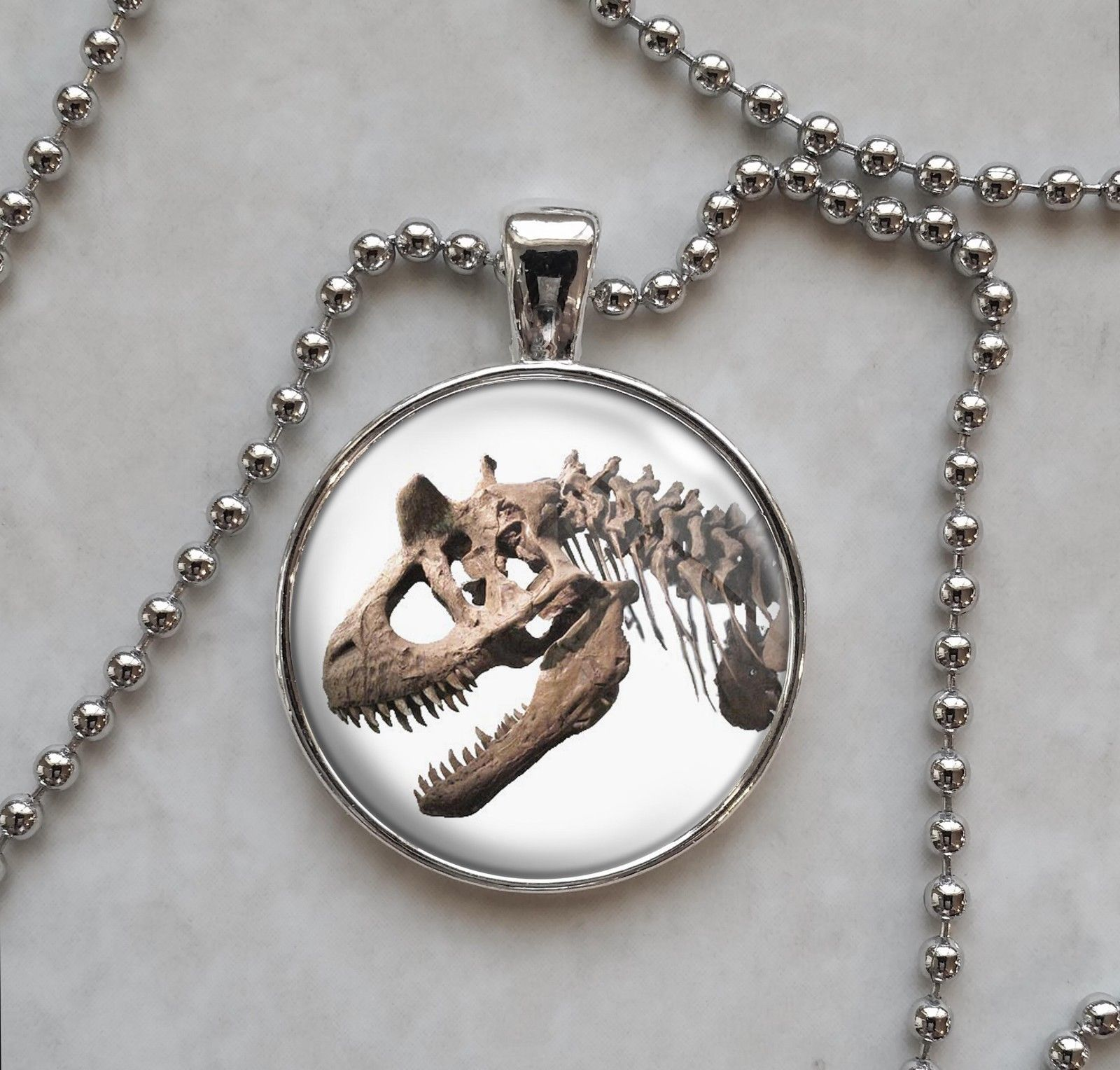 Primary image for Carnotaurus Fossil Dinosaur Paleontology Science Pendant Necklace
