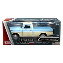1969 Ford F-100 Pickup Truck Light Blue and Cream 1/24 Diecast Model Car... - $32.12