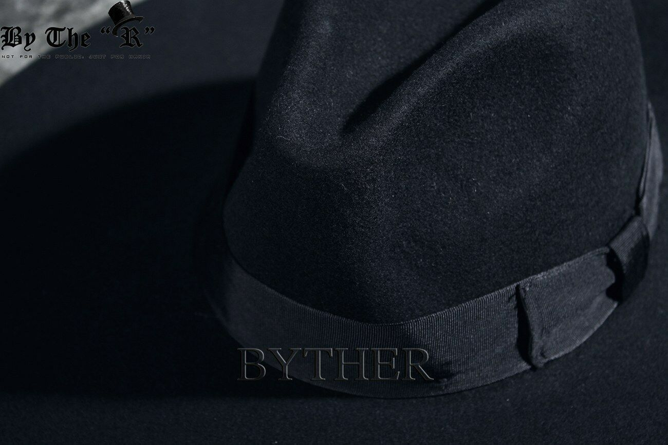 ByTheR Unisex Modern Chic Classic Style Floppy Wide Brim Wool Felt Fedora Hat image 4