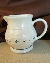 Longaberger Pottery Classic Blue WOVEN TRADITIONS Small Juice Pitcher - $15.00