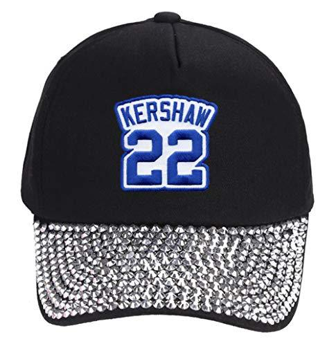 Clayton Kershaw Hat - Women's Los Angeles Baseball Jersey Number Cap (Rhinestone