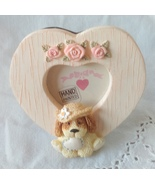 Adorable Heart with Daisy Dog Mini Frame - 1997 - £0.00 GBP