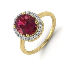 Pink Gemstone Beautiful Ring Jewelry 925 Sterling Silver Anniversary Rings Gift  - $119.99