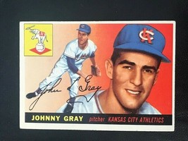 1955 Topps Baseball Card #101 JOHNNY GRAY  Kansas City A's - $4.90