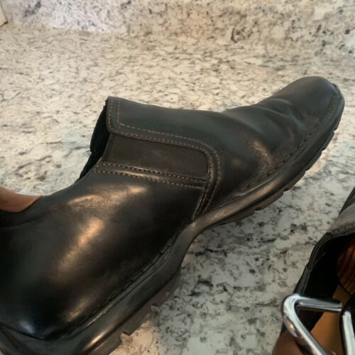 COLE HAAN casual dress Driving Loafer Slip On Black Leather Mens Sz 12 image 7