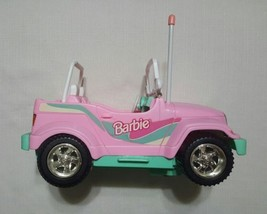 1998 Pink Barbie Jeep (No Remote) Tested Working Lights  - $19.95