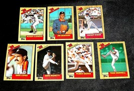 AA11986 Topps Baseball LOT 7 Cards '86 RECORD BREAKERS MINT Vintage AA19-BTC4000