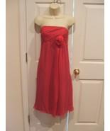 NWT ORG $268 Suzi Chin Strapless 100% Silk Dress Fuchsia Size 8 - $74.24