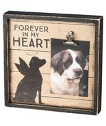 Forever in my Heart Frame Primitives by Kathy Picture Photo dog pet memo... - $22.95