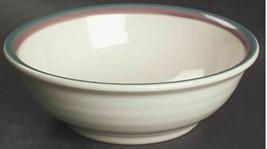 Juniper by PFALTZGRAFF Stoneware, Green & Mauve Bands Soup/Cereal Bowl J... - $9.49
