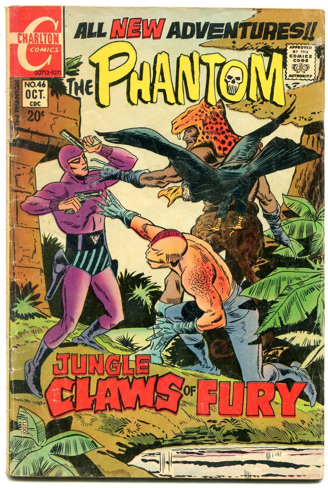 Primary image for THE PHANTOM #46 1971-CHARLTON COMICS-WILD COVER-SF G