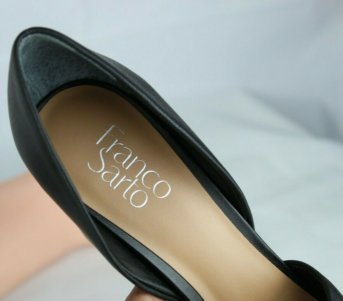 Franco Sarto Emma Femmes Chaussures Talons Cuir Supérieur Ope Orteil Noir Taille image 8