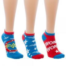 Wonder Woman Ankle Socks 3 Pack - $15.00