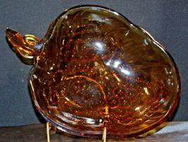 Amber Glass Grape Cluster Shape Large Centerpiece Bowl AA19-CD0045 Vintage image 7