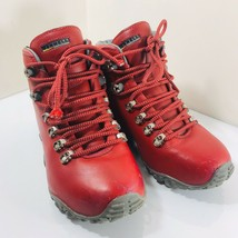 Merrell Women's Wilderness Evolution Red Leather Hiking Boots Size 6.5 - $48.02