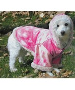 "Doggiduds ""A Bit Chilly""  Faux Suede Pink Tie Dye Hooded Dog Coat Sz M NWT - $19.05"